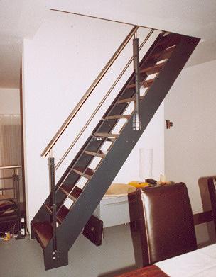 stahlwangentreppe. Black Bedroom Furniture Sets. Home Design Ideas